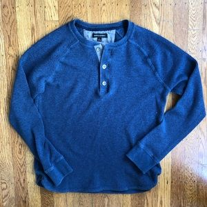 Banana Republic blue thermal henley